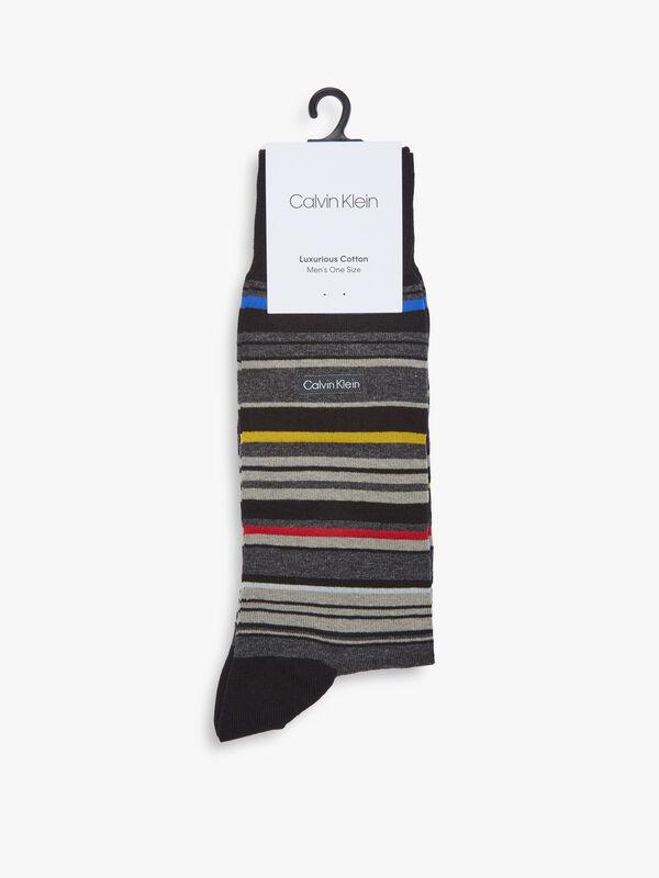 Mulitcolour Stripe Crew Socks