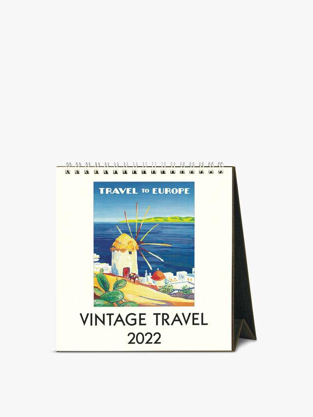 Vintage Travel 2022 Desk Calendar