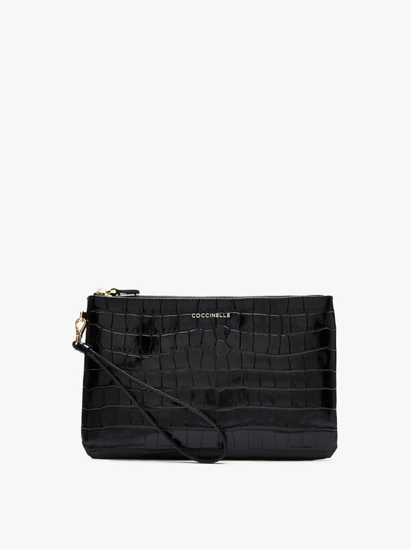 New Best Croco Shiny Soft Clutch