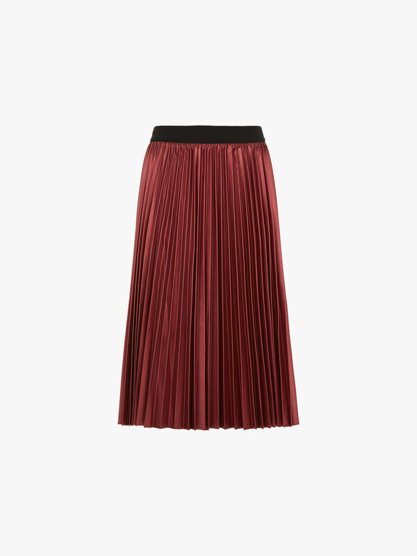 Dicitura Metallic Pleated Midi Skirt