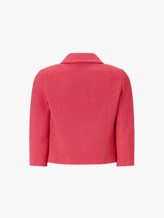 Beti Knit Collar Cropped Jacket