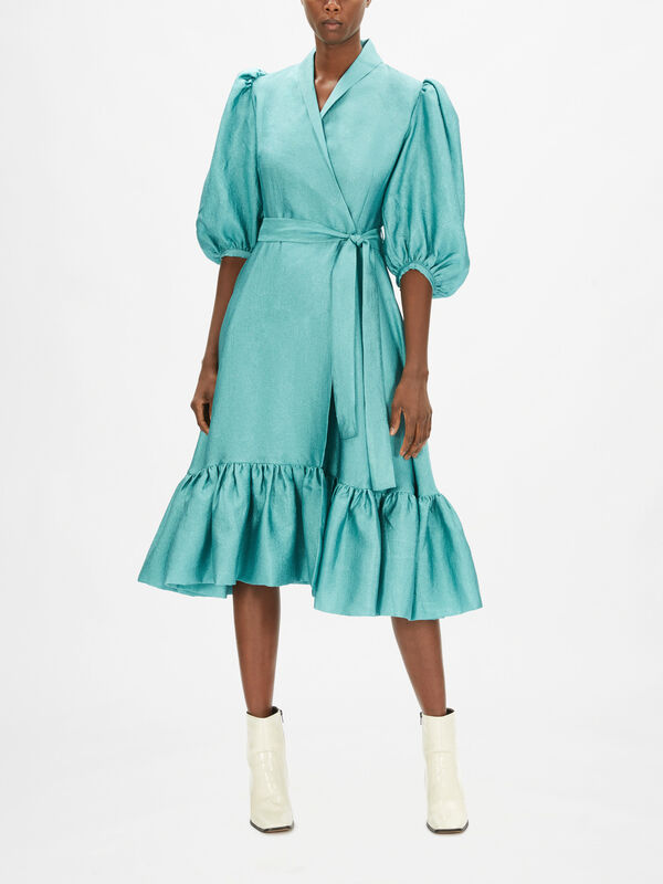 Chinie Midi Wrap Dress