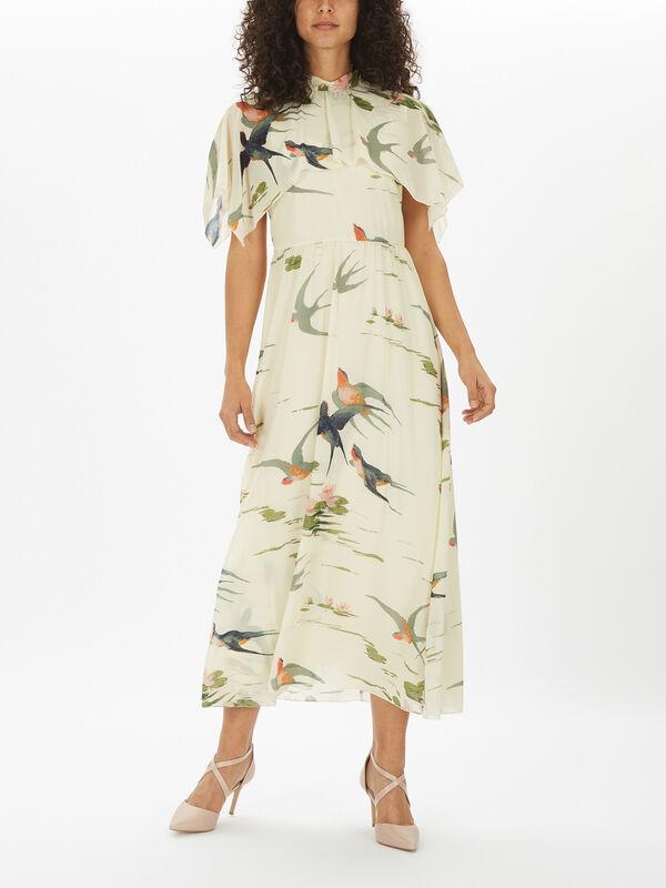 Cape Detail Dress