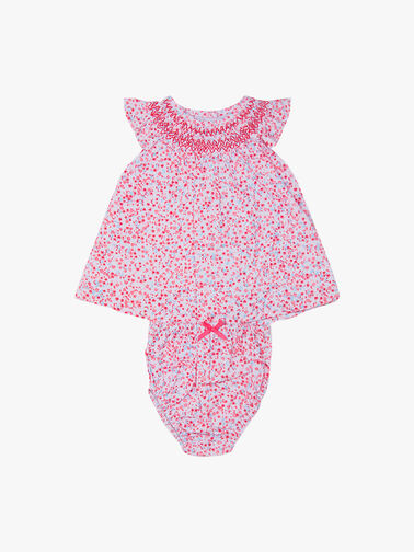 Ditsy-Print-Smock-Neckline-Dress-11095