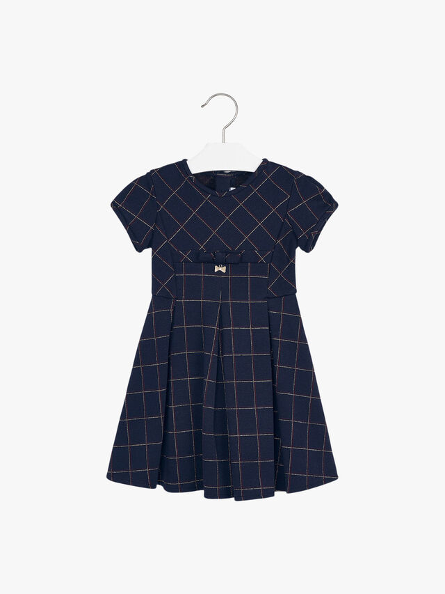 Check Dress With Lurex