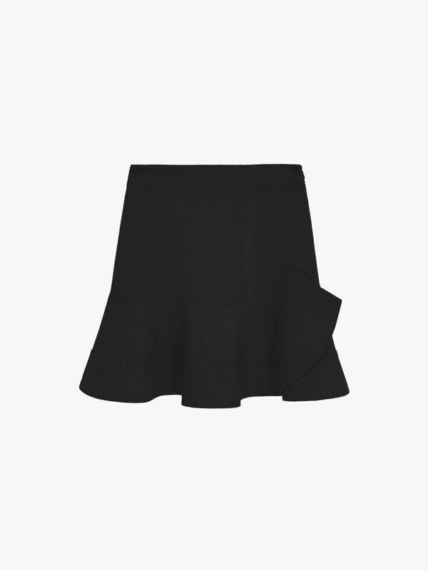 Peplum Hem Skirt