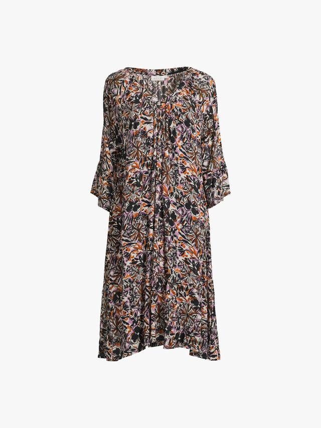 Nulla Floral Print Midi Dress