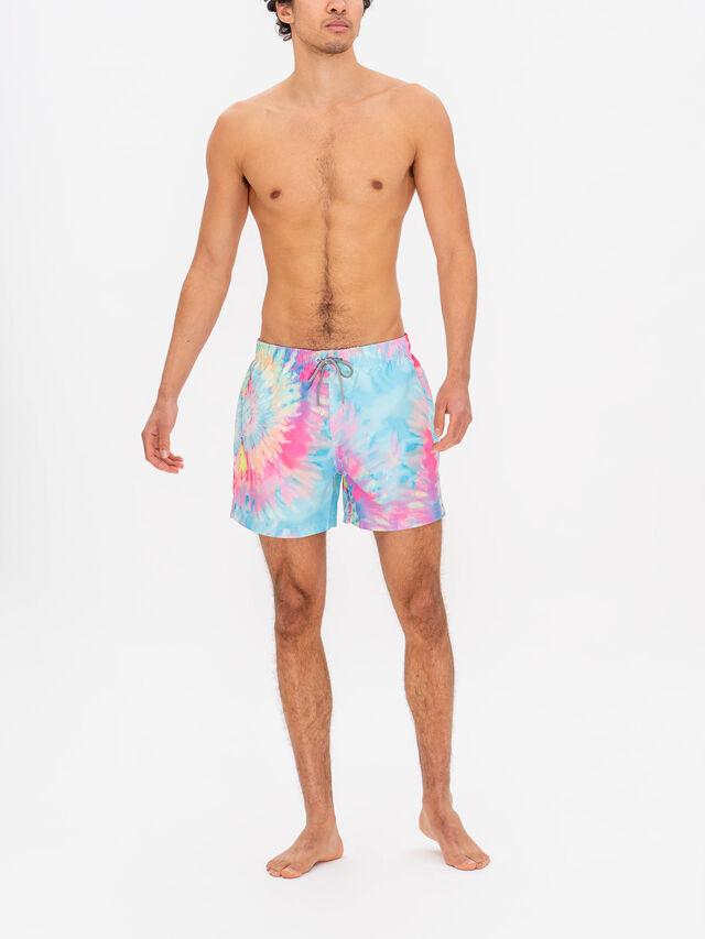 Spiral Tie Dye Swim Shorts