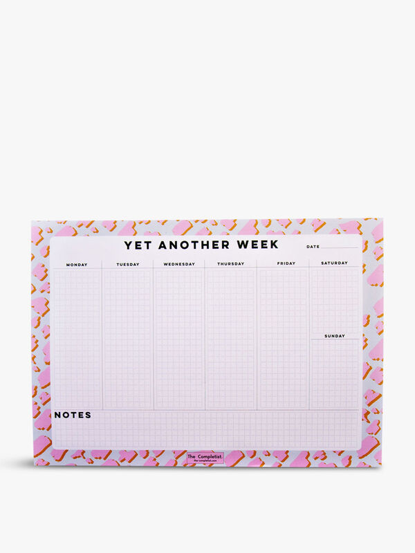 Weekly Planner Pink Animal Notepad