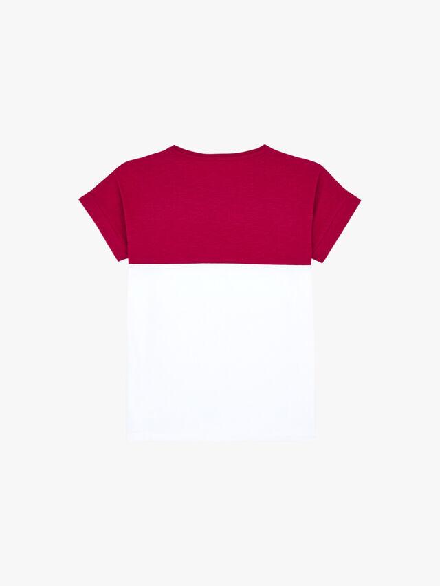 Color Block Front Logo T-Shirt