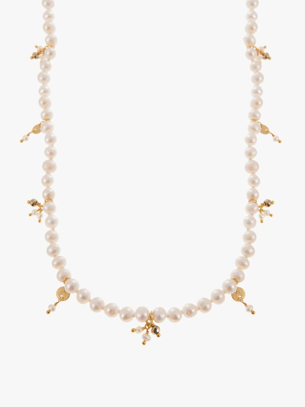Long Pearl Beaded Necklace