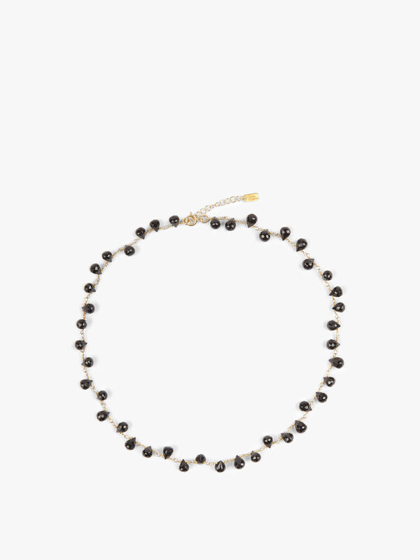 Black Onyx Mini Drop Necklace
