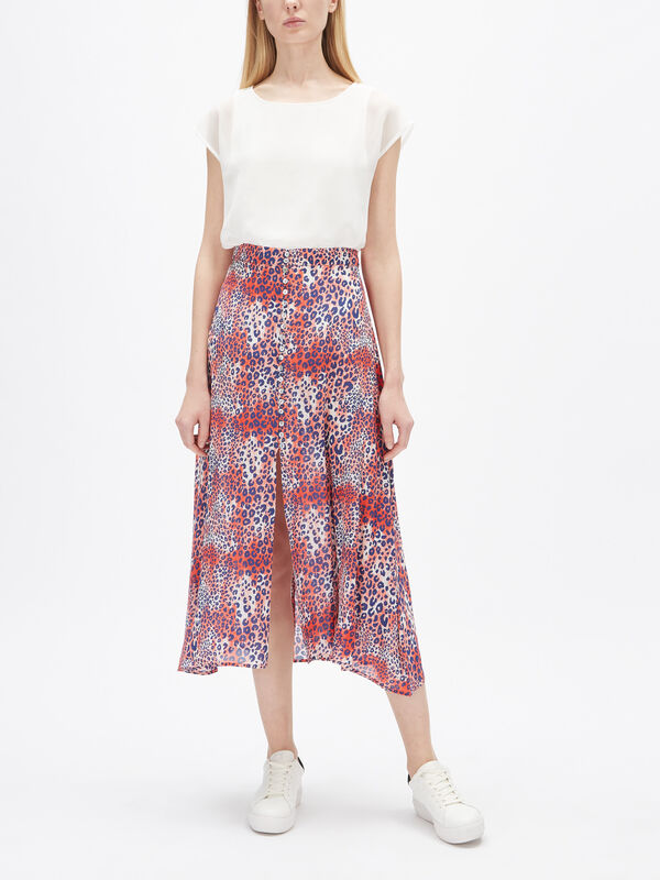 Moulton Midi Button Viscose Skirt