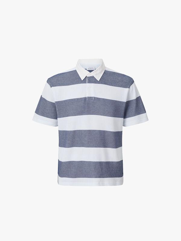 Jake Waffle Stripe Polo Shirt