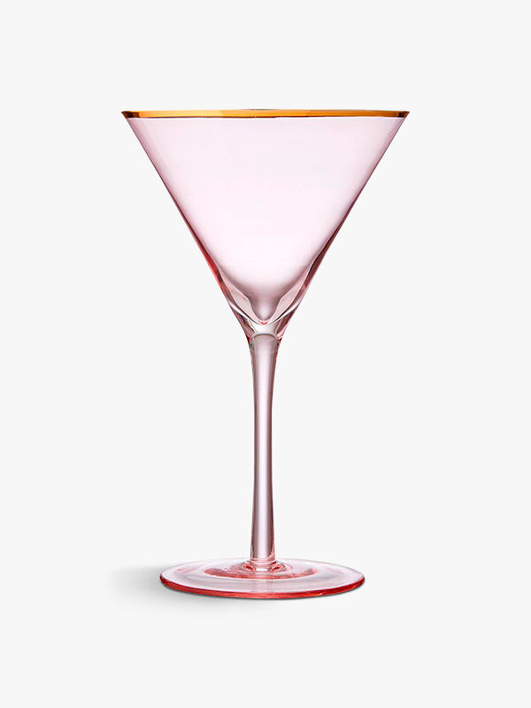 Chloe Peach Martini Glass