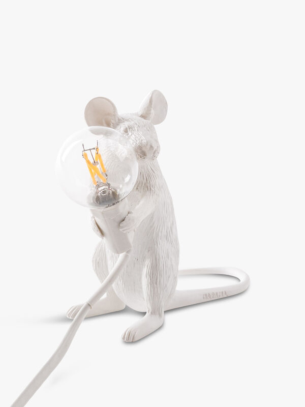 Sitting White Mouse