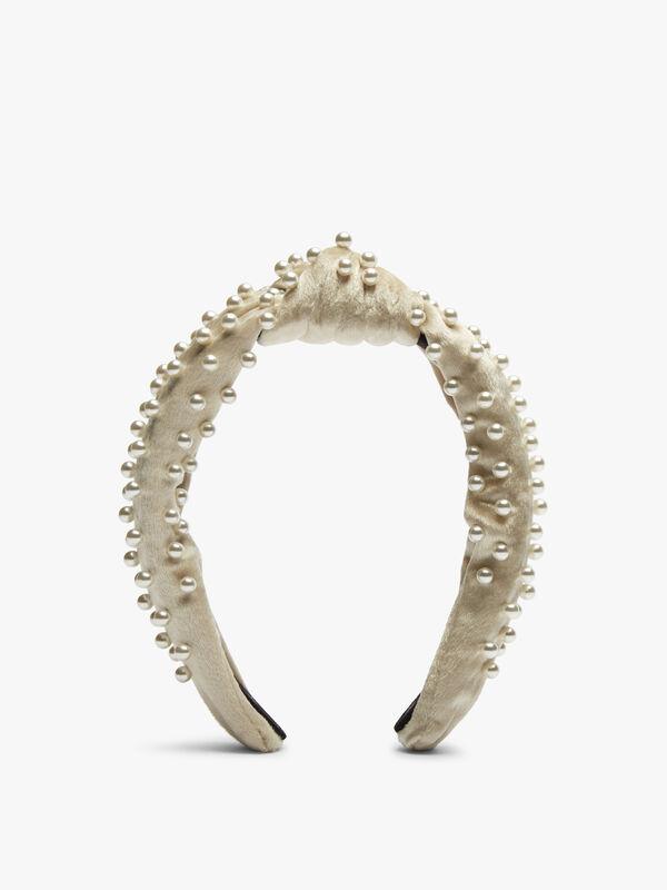 Velvel Acrylic Pearls Headband