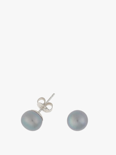 Dove Grey Pearl Studs
