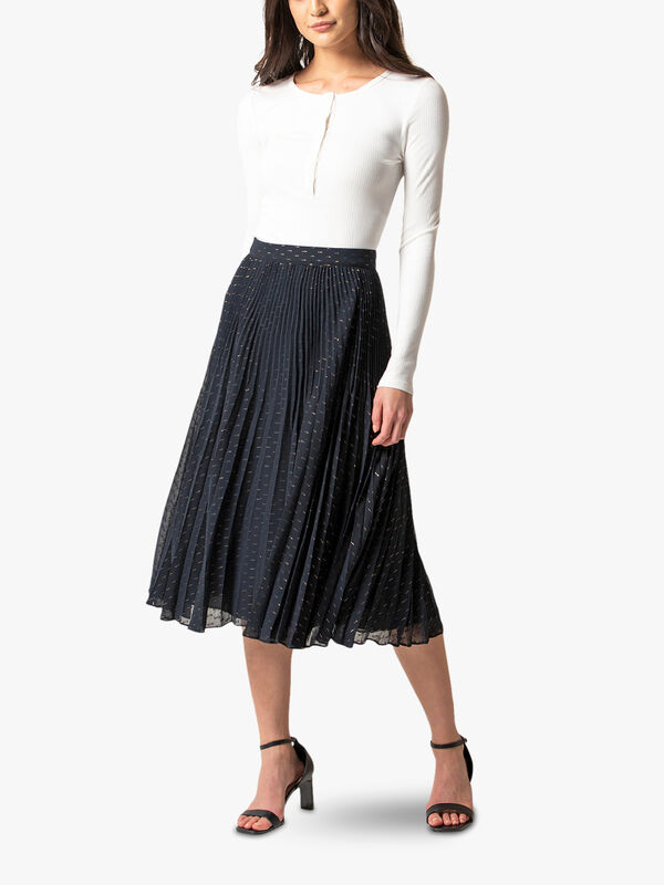 Hazel Pleated Midi Skirt