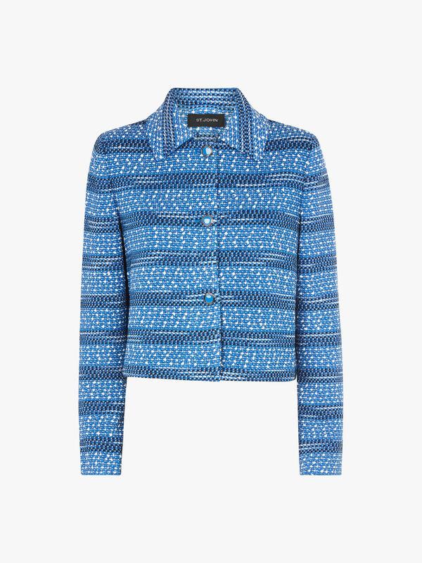 Textured Tweed Knit Jacket