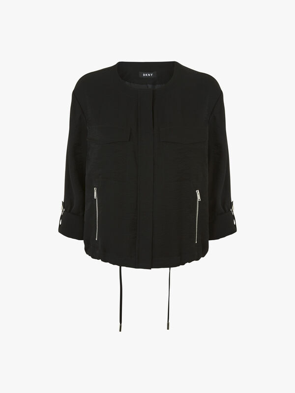 Roll Tab Zip Front Jacket