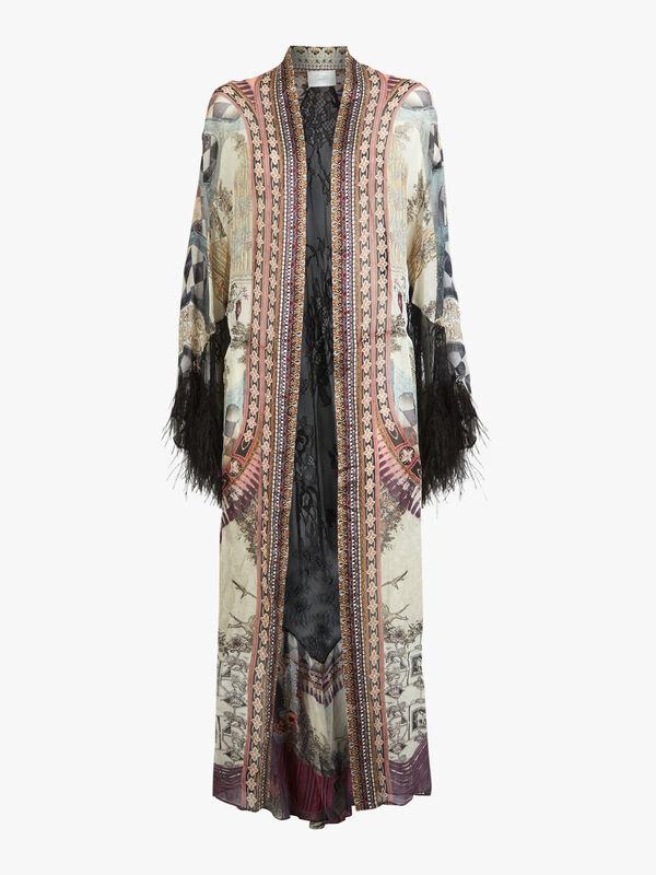 Lace Insert Layering Robe