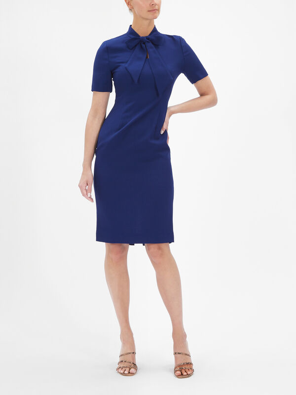 Keira Bow Neck Pencil Dress