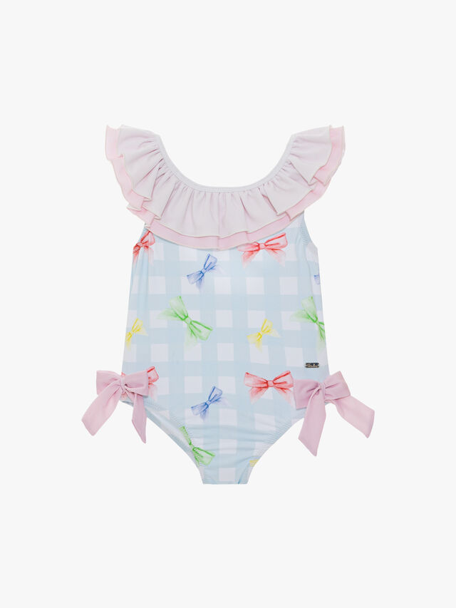 Check and Bows Swimsuit