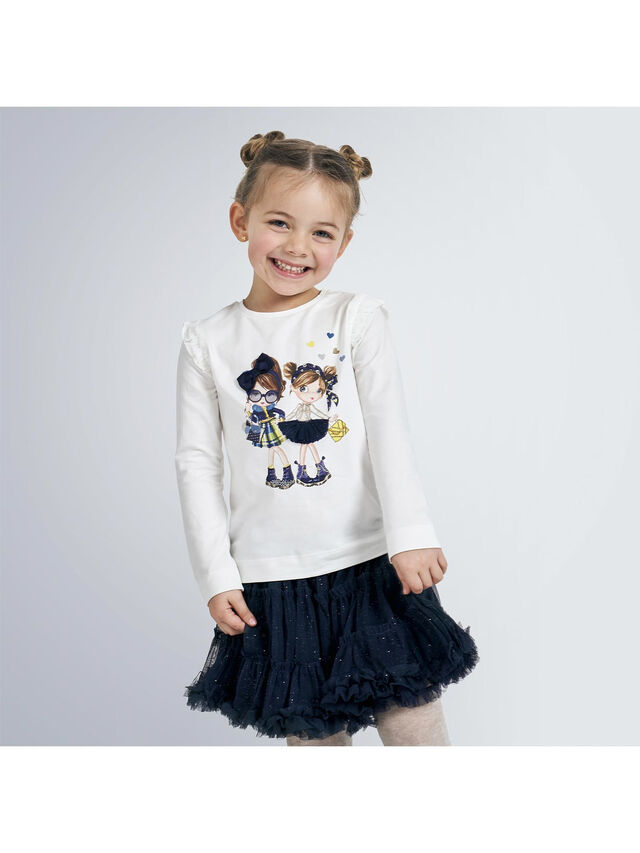 Long Sleeve Top With Characters