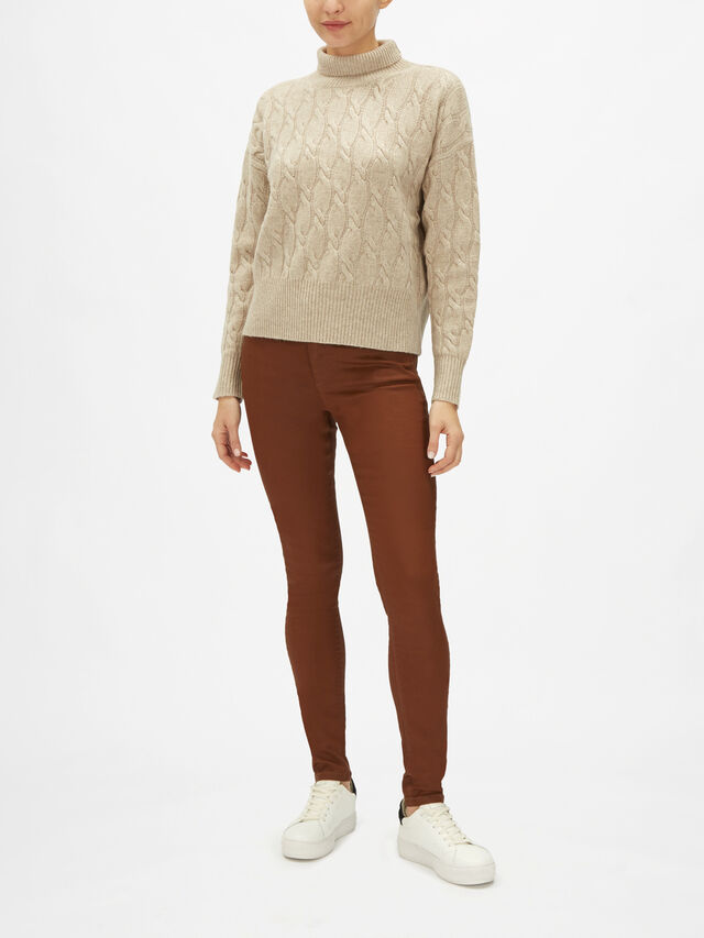 Ramo Cashmere Blend Cable Knit Sweater