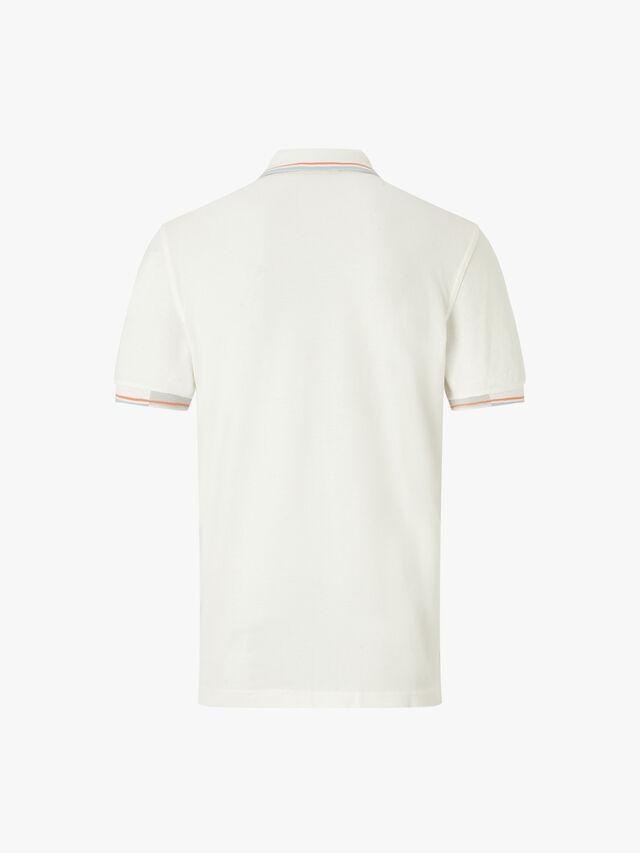 Abstract Collar Pique Polo
