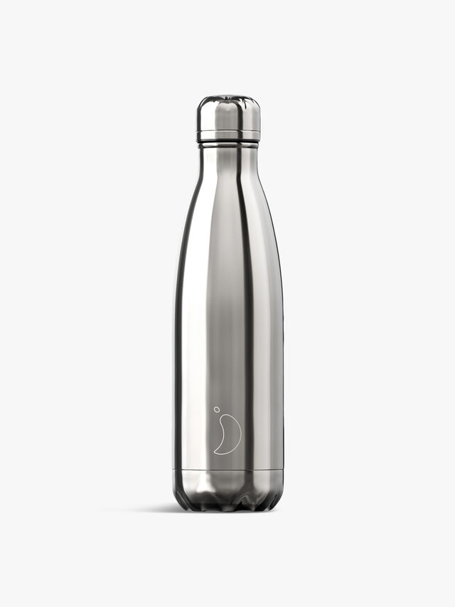 Chrome Silver Water Bottle 500ml