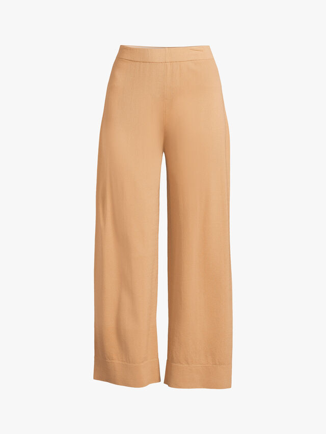 Pull On Wide Leg Double Viscose Trouser