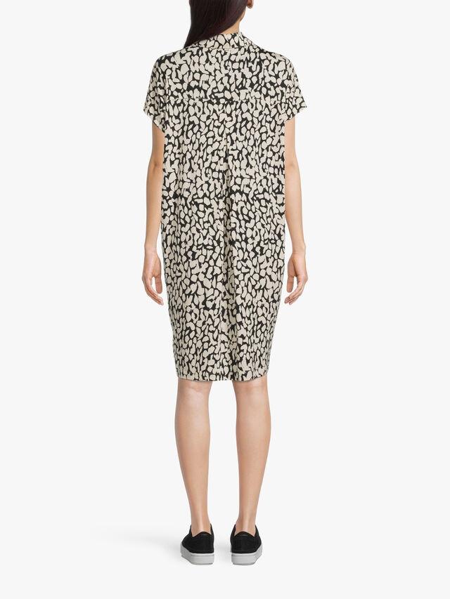 Odelli Animal Print Midi Shirt Dress