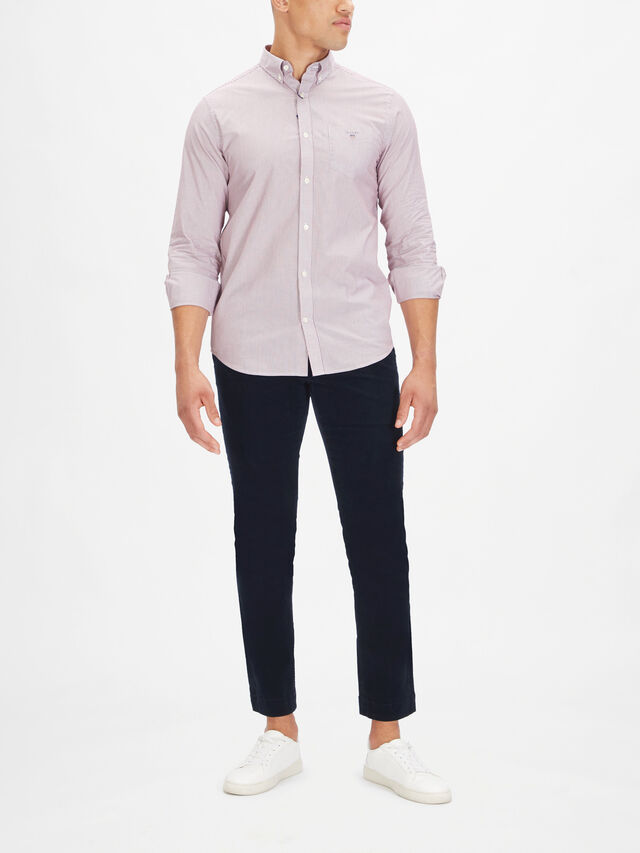 Banker Contrast Button Down Shirt