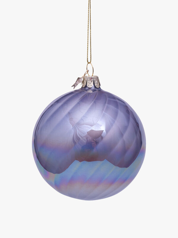 Oil Vertical Striped Christmas Bauble