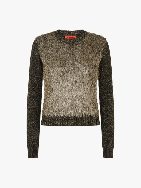 Pitone Lurex Faux Fur Sweatshirt