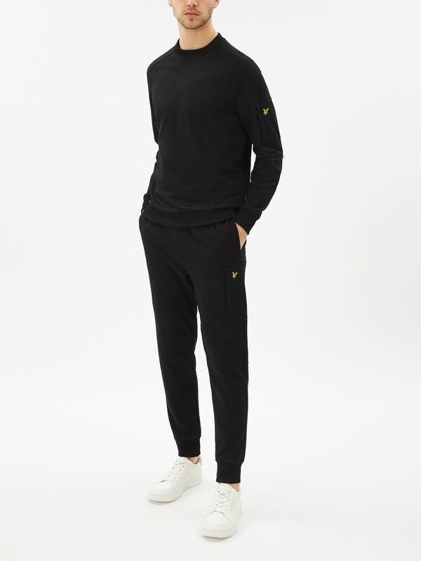 Pocket Crew Neck Sweatshirt