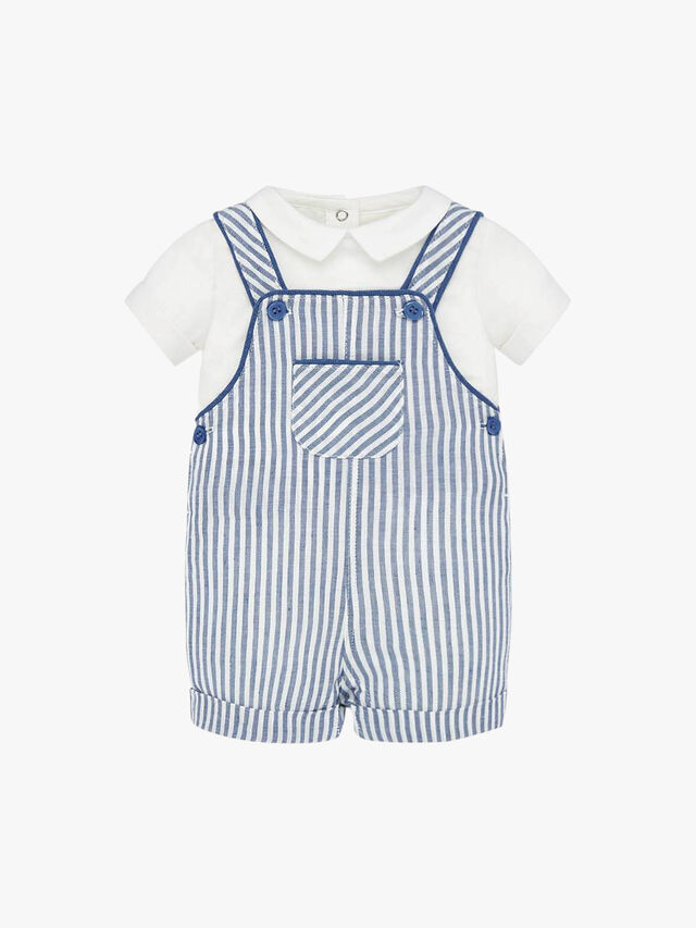 T-Shirt With Stripe Dungaree