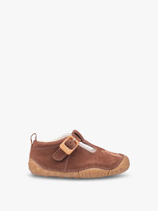 Cuddle Brown Nubuck Baby Shoes