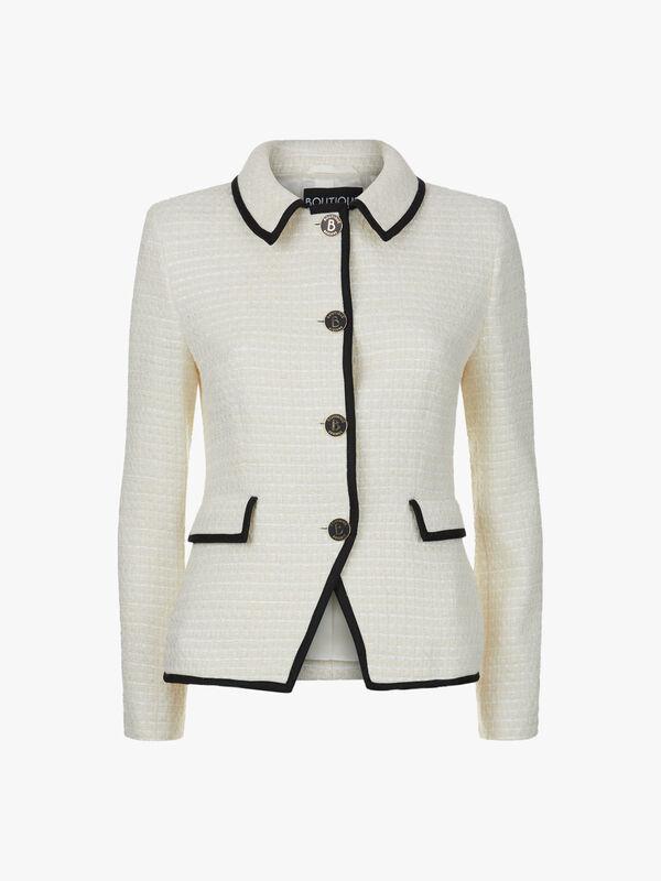 Boucle Button Jacket
