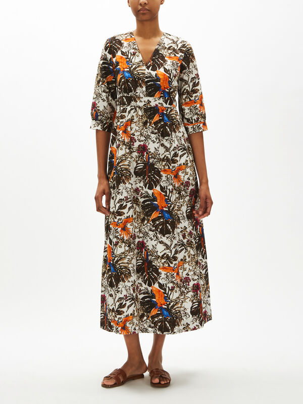 Subdolo Printed Cotton Maxi Dress
