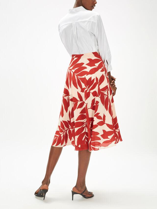 Snob Silk Printed Skirt
