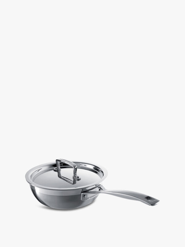 3-Ply Stainless Steel Non-Stick Chefs Pan 20cm