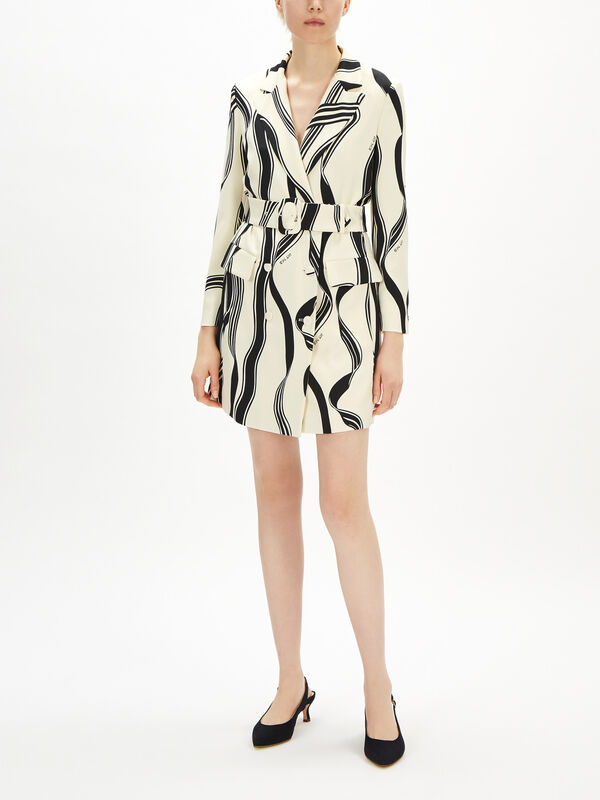 Noemi Printed Blazer Dress
