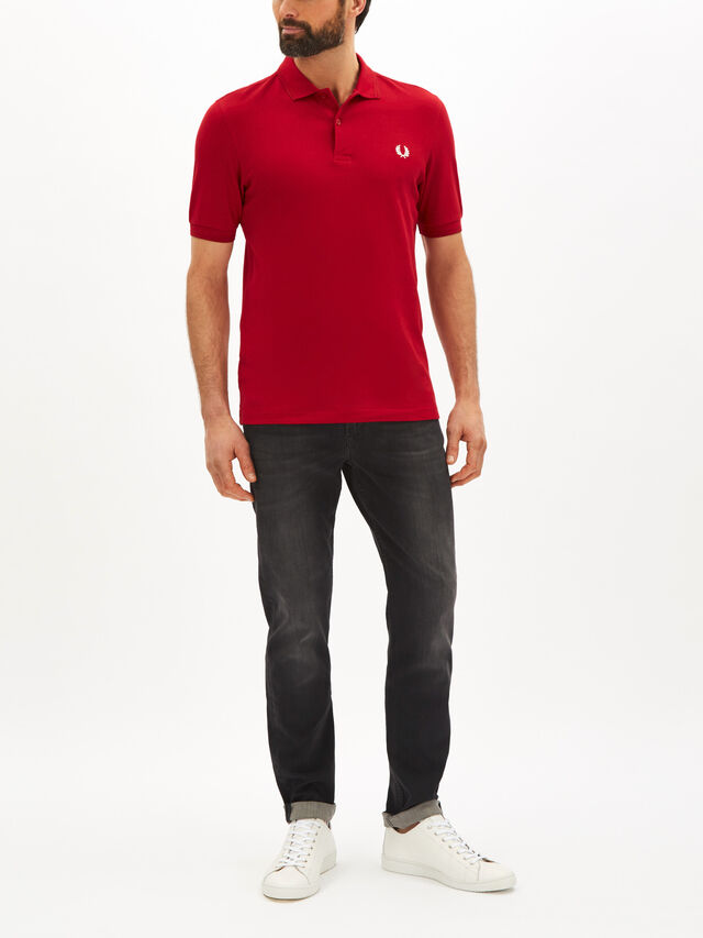 Striped Hem Polo Shirt