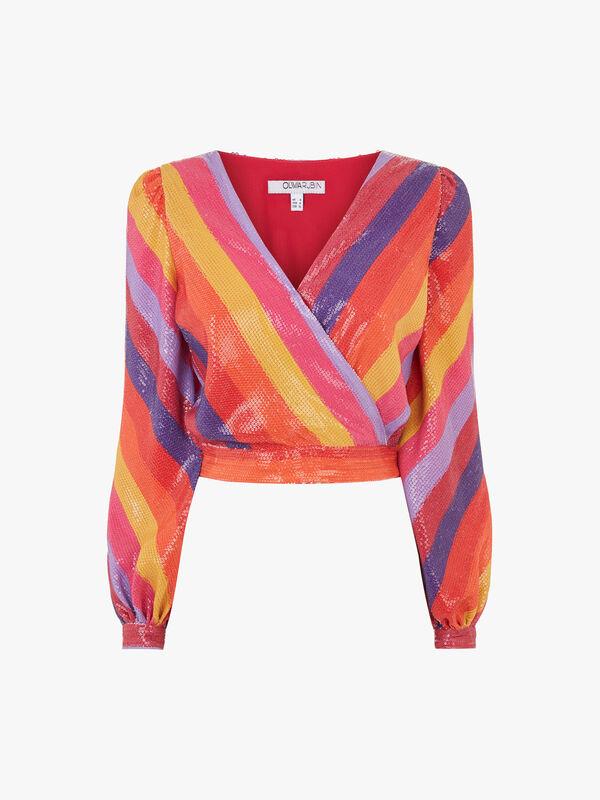 Kendall Stripe Wrap Top