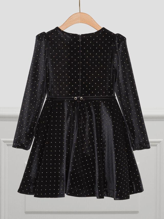 Polka Dot Velour Dress
