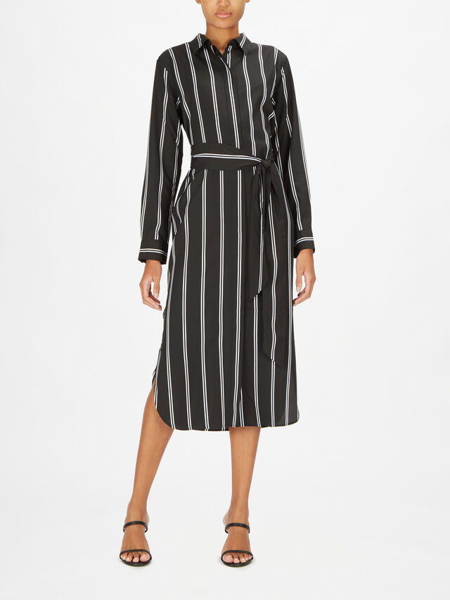 Rynetta Jayden Stripe Midi Shirt Dress