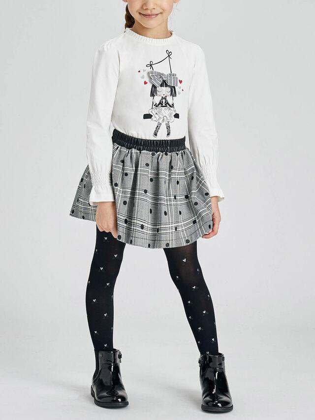 Glitter dot on check skirt